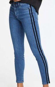 ann Taylor velvet side striped jeans